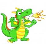9968033-il-cartone-animato-drago-verde