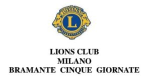 Lions Club Milano Bramante Cinque Giornate